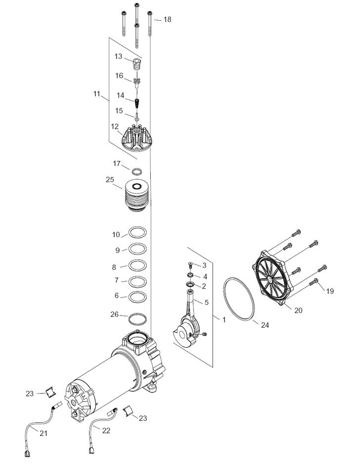100933 Robinair Compressor Rebuild Kit Thomas CMP# 650506