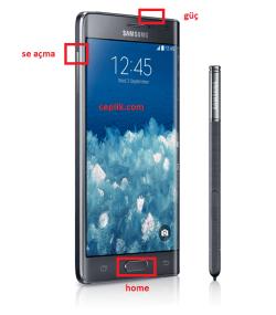 Samsung N915 Galaxy Note Edge Format Atma