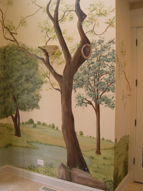 3d Wallpaper For Bedroom Price Painted Tree Mural Muralist Debbie Cerone Wall Murals