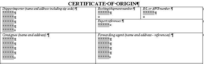 certificate of origin form word format - Vatozatozdevelopment - Origin Of The Word Free