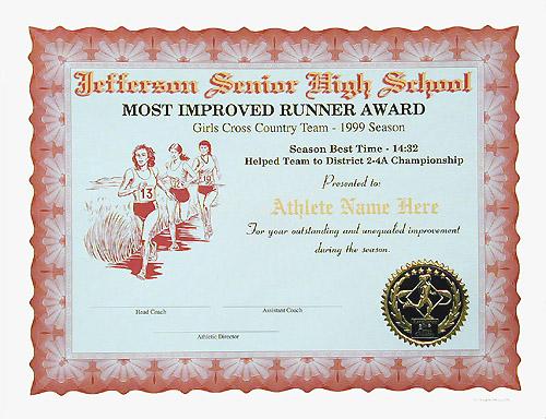 Full Color Certificates - certificate samples
