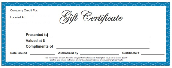 how to make a gift certificate in word