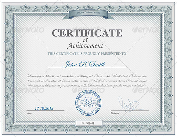 certificate-of-achievement-psd-free-downnloaad - free certificate of achievement