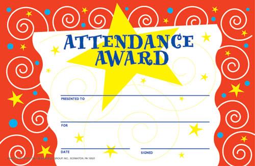 print-perfect-attendance-award-certificate - Free Printable Perfect Attendance Certificate