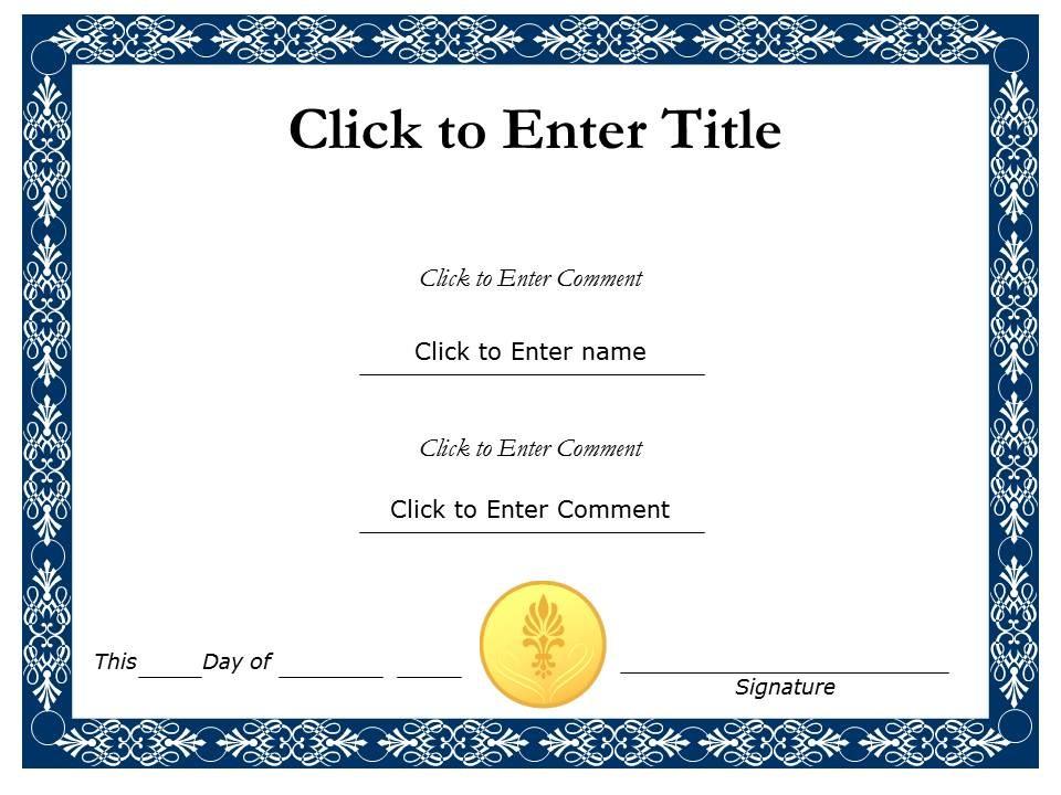 school-template-Certificate of Achievement