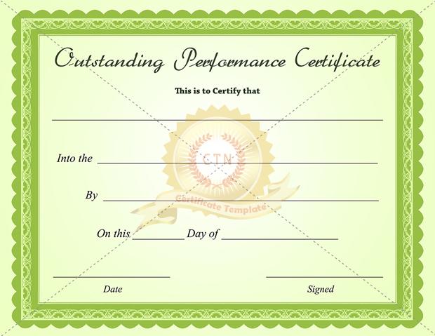 best performance certificate template - Alannoscrapleftbehind - business certificates templates