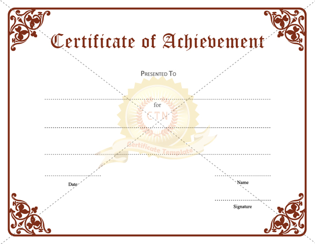 academic achievement awards templates - Josemulinohouse - blank achievement certificates