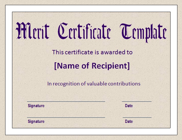 Merit-Certificate-Template