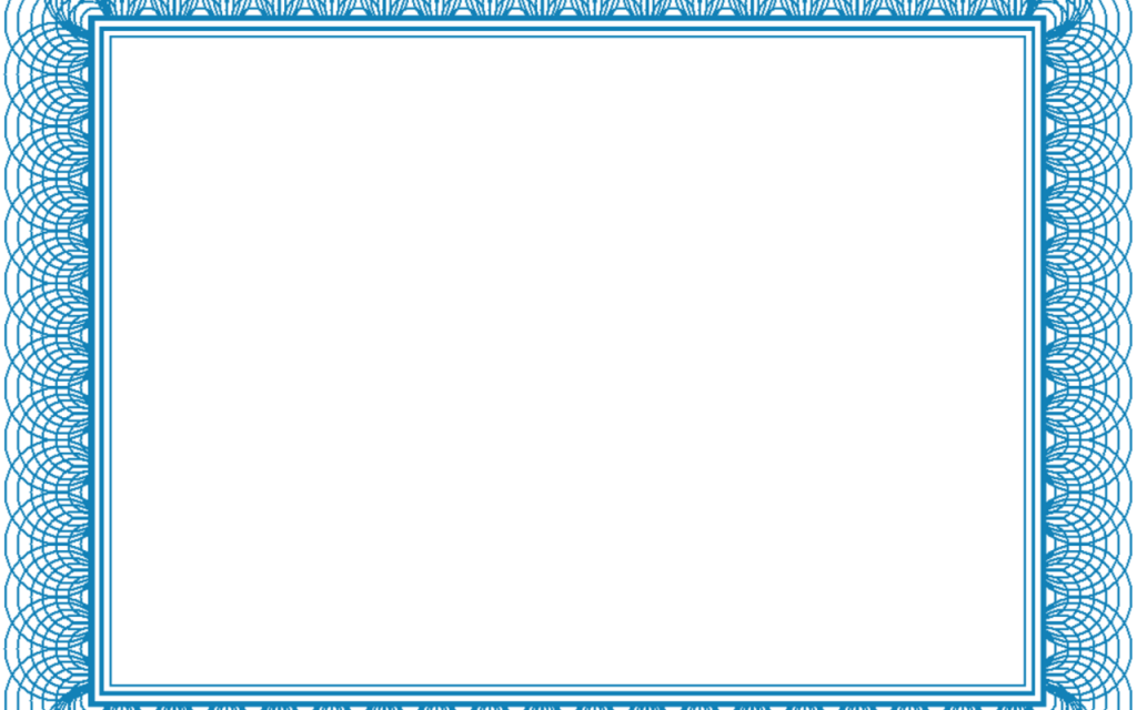 Blank Certificate Template Border – Blank Certificates Template