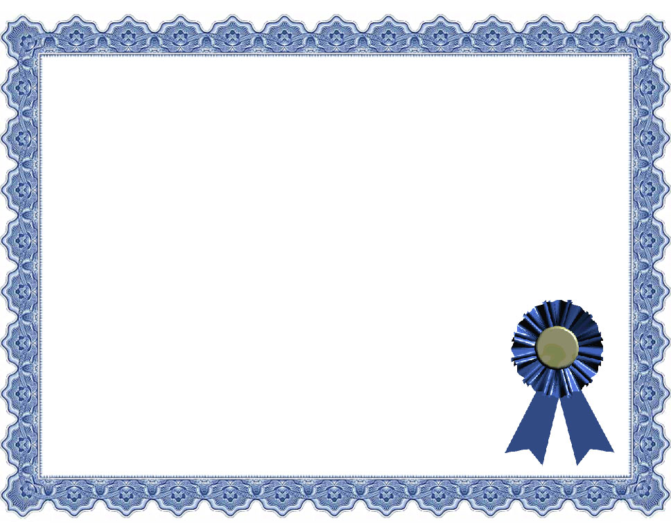 Word Award Certificate Template – Template for Award Certificates