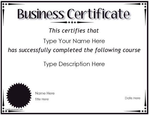 Printable Marketing Certificates Certificate Templates - certificate template doc