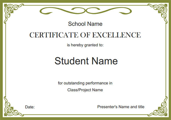 scholarship award certificate freewordtemplates net template for - acknowledgement certificate templates