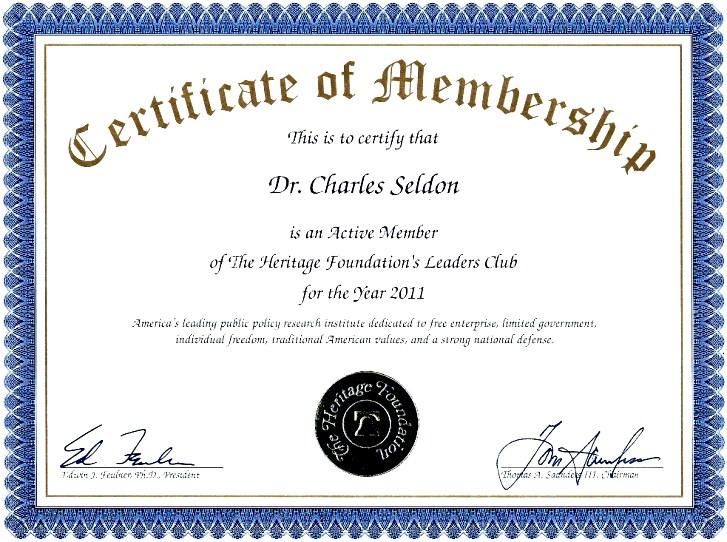 Membership Certificate Template Sample - sample certificate template