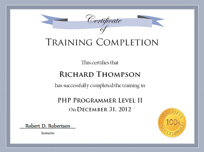 Free-PDF-Certificates-completion-2 - free training certificates