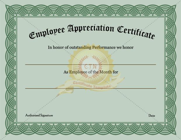 Free Appreciation Certificate Templates Templatebillybullock – Free Appreciation Certificate Templates