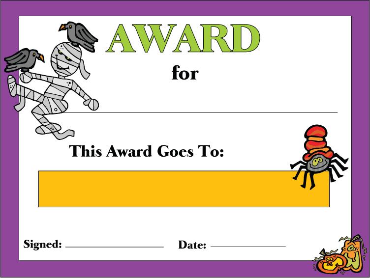 printable-halloween-award-certificate - printable congratulations certificate