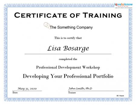 printable training certificate - Maggilocustdesign - sample of certificate of training completion