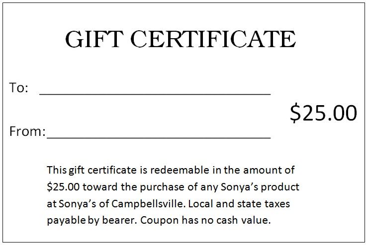 Gift Certificates Wording Funfpandroidco - Wording for gift certificate template