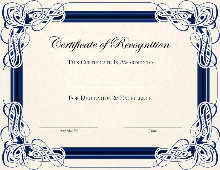 Award Certificate Template Document Certificate Templates