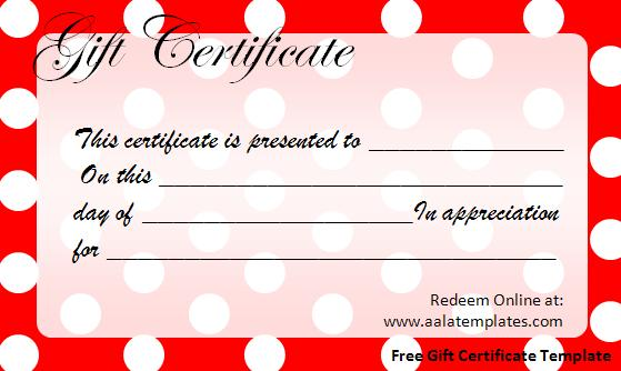 free-gift-certificate-template-dots - free template gift certificate