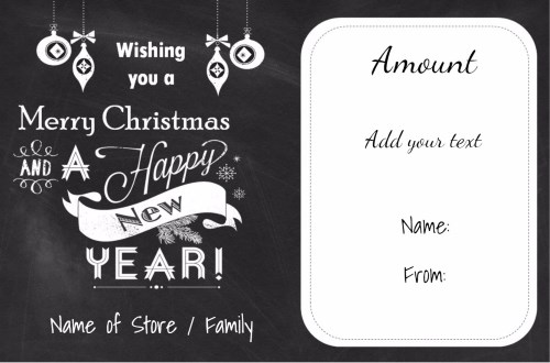 Christmas Gift Certificate Templates Certificate Templates - christmas gift certificates templates