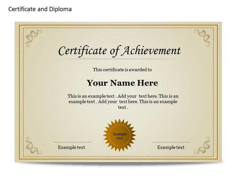 certificate of achievement template word hitecauto - school certificate templates