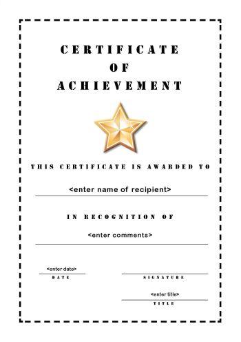 school-achievement-certificate-template-pdf - class certificates template