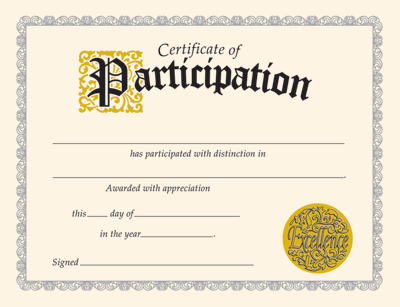 free certificate of participation template - Amitdhull - certificate of participation free template