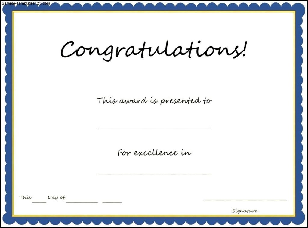 January Certificates For 2017 Certificate Templates