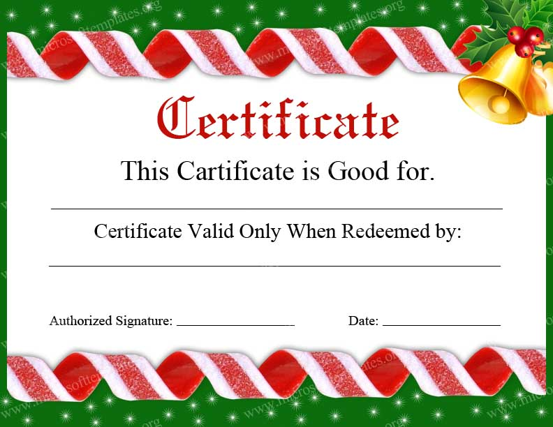 christmas certificates templates for word - Boatjeremyeaton - Christmas Certificates Templates For Word