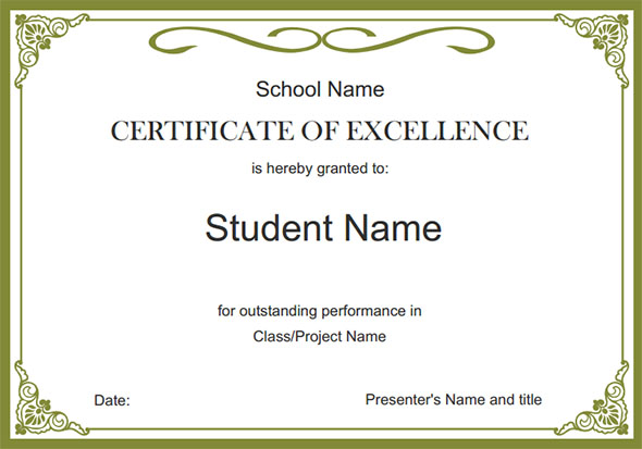 Free Certificate Border Templates For Word simpletext - Free Professional Certificate Templates