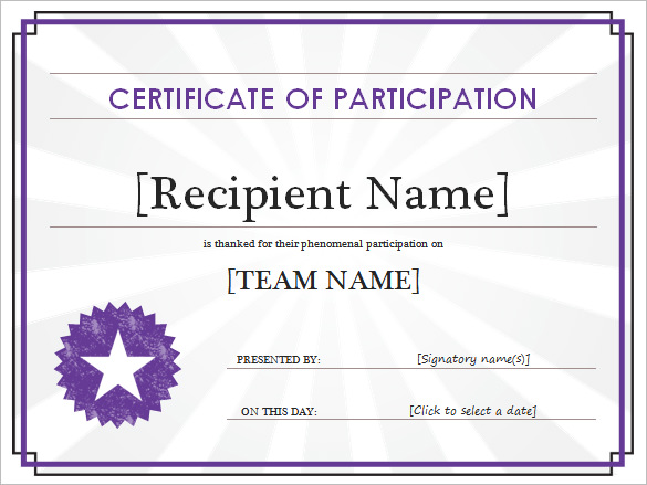 Participant-Certificate-Template-premium - printable certificate of attendance