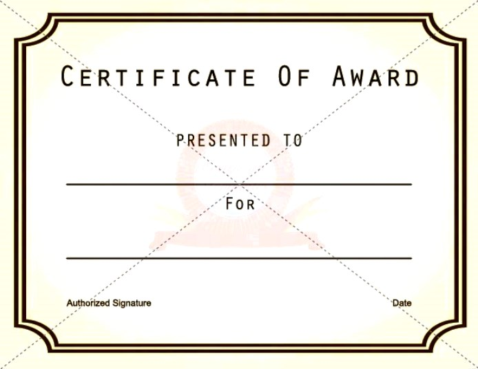 Blank Vector Printable Blank Certificates Certificate Templates - free award certificates