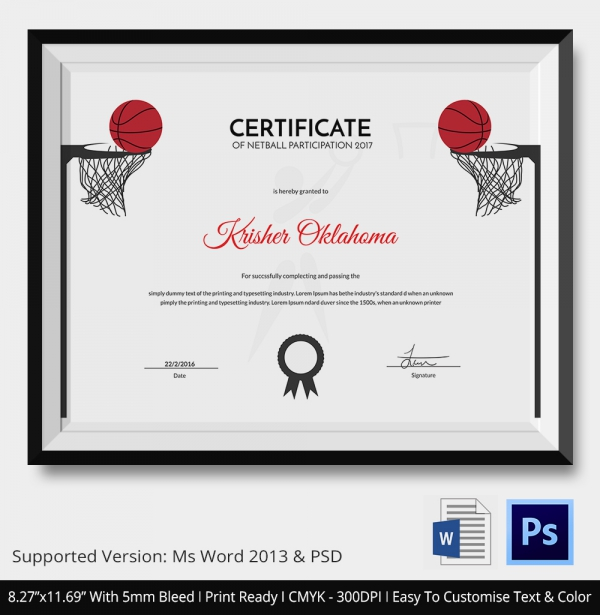 Sports Certificates Free Printable Certificates - mandegarinfo - certificates free download free printable