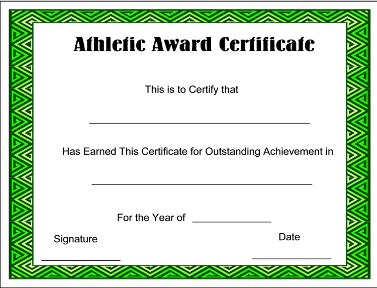 green-award-Sports-Certificate Templates