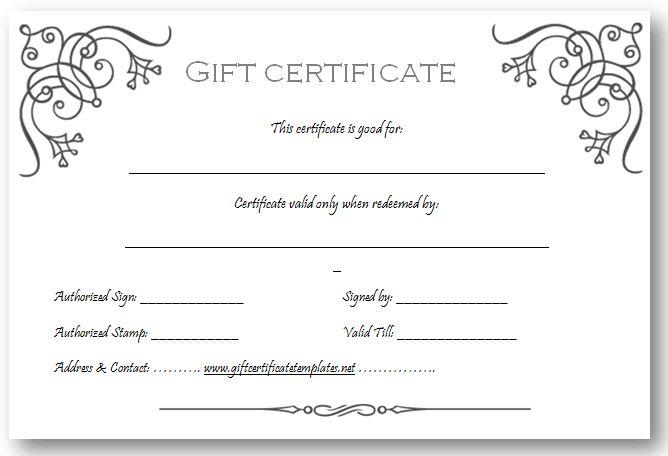 custom gift certificate template - ms word gift certificate template free