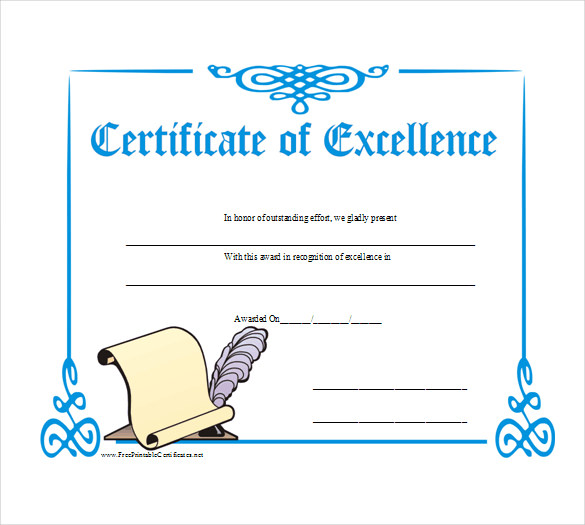 Business-Gift-Certificate-of-Excellence-Sample-PDF-Template-Free
