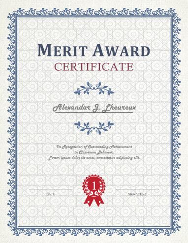 Blank Award Certificate Templates Certificate TemplatesMerit - blank certificates template