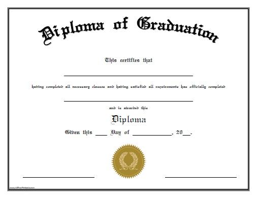 Graduation Certificate Templates Certificate Templates - certificate template doc