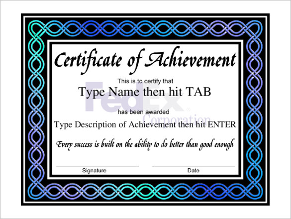 Free-Professional-Certificate-of-Achievement-sample
