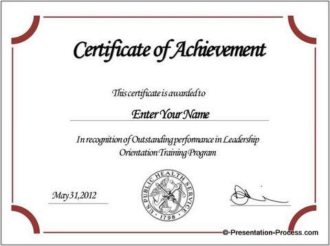 arc-certificate-powerpoint