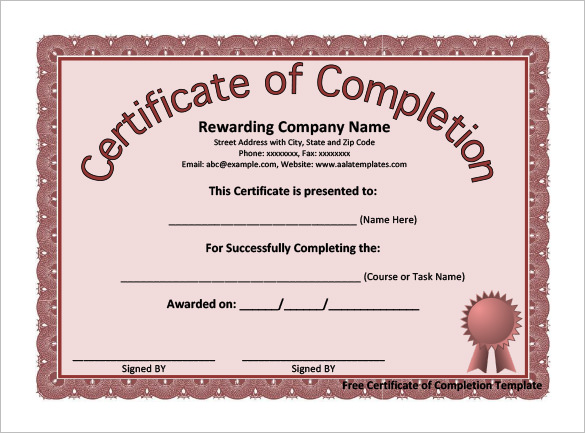 completion-certificate-template-pdfs - blank certificates of completion