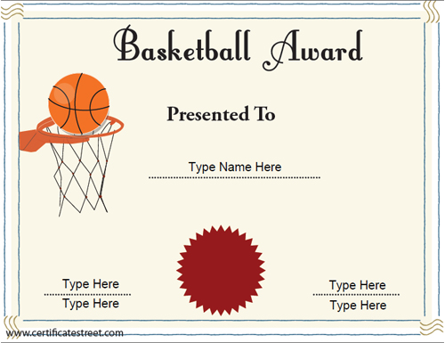 seal-red-printable-Basketball-Award-Certificate-Template