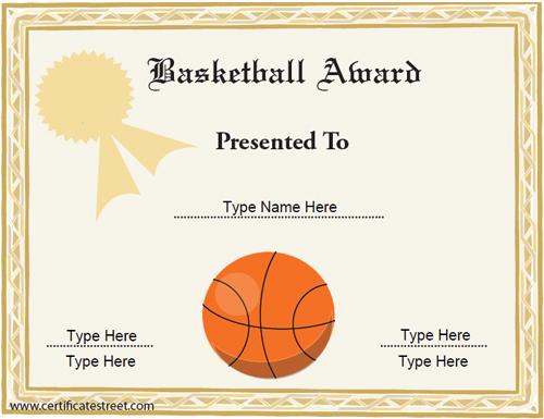 vector-printable-Basketball-Award-Certificate-Template