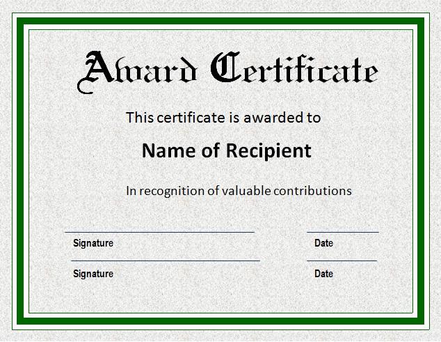 Certificate-template-download-business - award certificates templates