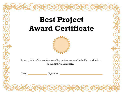Performance Certificate Template Sports Certificate Template For    Certificate Of Recommendation Sample