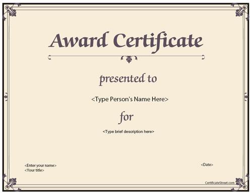 printable awards certificates templates radiovkm