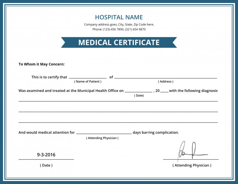 print-medical-award-Certificate-Template