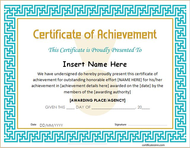 Army Certificate Of Achievement Template - mandegarinfo - army certificate of achievement template