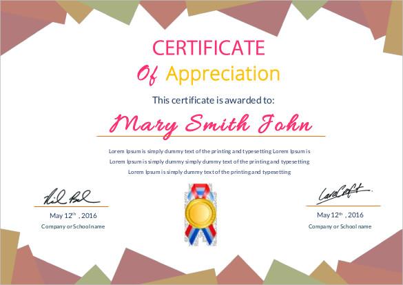 Free Editable Certificate Appreciation Template  27+ Certificate of - certificate of appreciation template